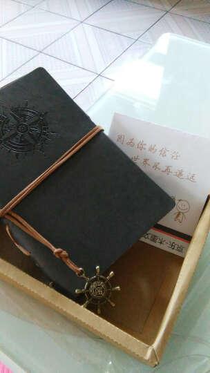 航海日记本子  创意个性复古牛皮纸皮革记事本厚本子  潮流精美旅行笔记本子盒装手账本 藏灰色 晒单图