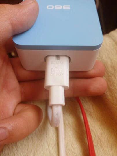 360超级充电器 4个USB充电口 智能识别 2.4A快充 8重安全保护 天空蓝 晒单图