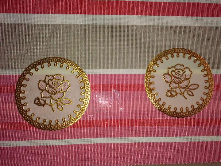 欣伊 户外餐垫 PVC西餐垫 儿童餐桌垫子 欧式隔热垫 盘垫 (2片装)一枝花巧克力色 晒单图