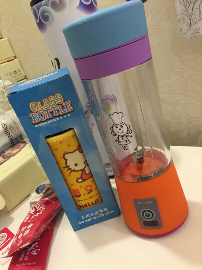 洁诺斯 榨汁机多功能家用电动果汁杯JNS-3S大动力迷你水果豆浆机料理机 七彩色 晒单图