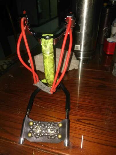 GUXU户外弹弓3D不锈钢合金竞技精品强力重型腕托弹弓反曲定位器手电夹皮筋支撑架 炫绿鹰 晒单图