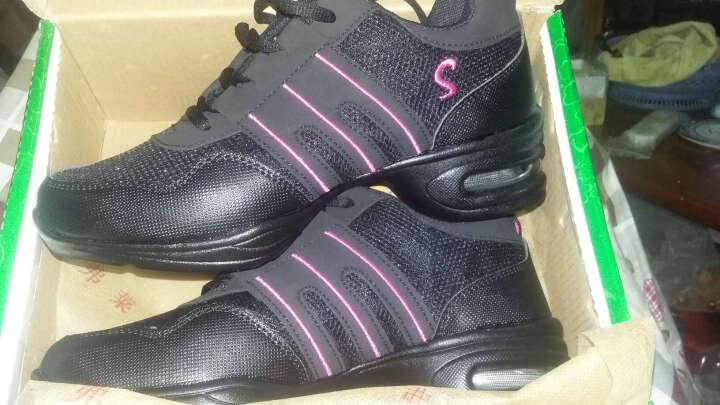 S0PAnbHfYt弗莱森女鞋广场舞蹈鞋 女运动鞋 健身旅游休闲跳舞鞋 760白粉色 40 晒单图