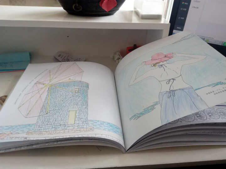 如果想念有颜色:一本让爱更生动的涂色书 成人手绘涂鸦填色本 彩铅/铅笔画  HC 晒单图