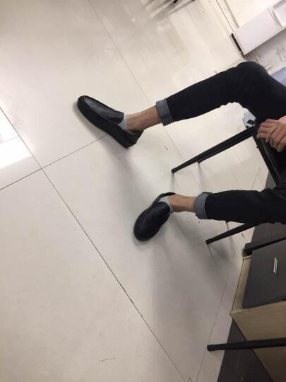 古洋城新款男鞋透气豆豆鞋男牛皮男士休闲皮鞋驾车鞋套脚懒人鞋夏季 mz-12030-黄棕(主图款) 41 晒单图