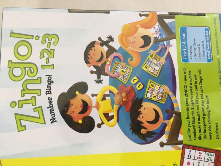 THINKFUN 益智玩具 Zingo眼明手快数字123 男孩女孩儿童玩具4-6-8岁 晒单图