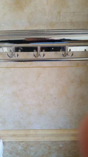鹏冉 不锈钢浴室挂件浴巾架毛巾架卫浴套装卫生间 加厚款四件套加长纸巾盒A 晒单图