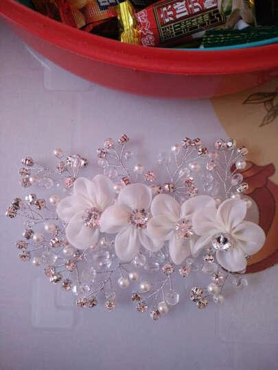 蜜月新娘 新娘手工头花 新娘饰品 新娘头饰 新娘发饰 插梳式大皇冠 白色 晒单图