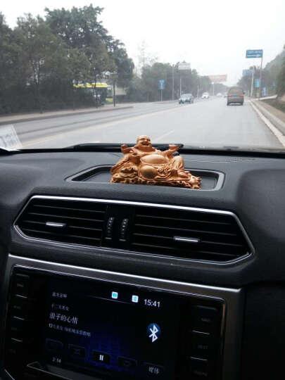 精品原木红豆杉木雕弥勒佛汽车摆件 精雕佛像红木摆件工艺品 红豆杉弥勒佛长度15厘米 晒单图