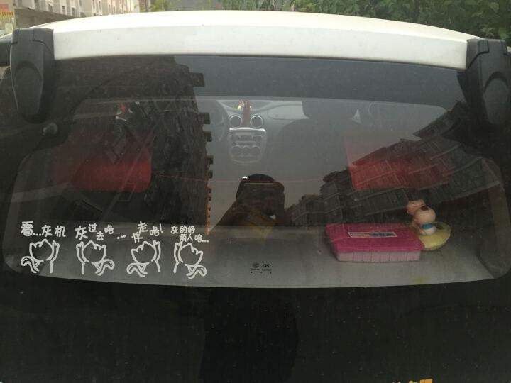 帝图车贴纸个性车门贴 小娃娃卡通车贴 汽车贴纸  引擎盖贴 灯眉贴小孩亲亲贴纸 可爱卡通车贴 反光黄色 30厘米长 如图 可贴车门 晒单图