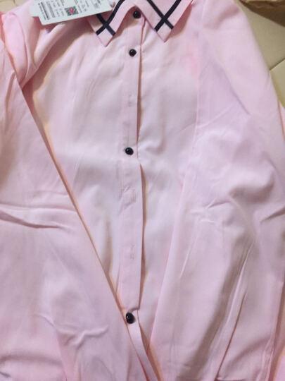 唯美加分 长袖衬衫女2017秋冬季白色衬衣女装加绒加厚韩版修身OL职业保暖雪纺衫 白色-加绒 XXL(建议126斤-135斤) 晒单图