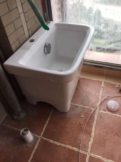 伊诺尼陶瓷拖把池 方形拖布桶 阳台自动下水墩布池 拖布池 水池 全铜下水+龙头 晒单图