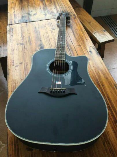 kepma 卡马 吉他民谣木吉他初学者乐器 缺角41寸 D1C酷黑色木吉他 晒单图