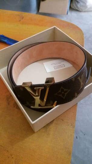 """路易威登 Louis Vuitton 棕色印花""""LV""""首字母带扣女士&男士腰带 M9608 95cm 晒单图"""