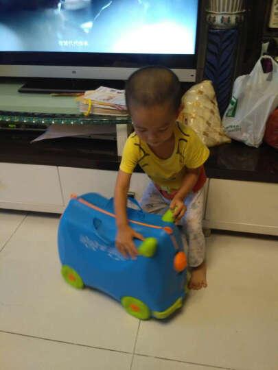 KO SHENG 儿童骑行旅行箱行李箱收纳箱 拖拉玩具学步车可骑坐登机箱包 10035汪汪狗 绿色 晒单图