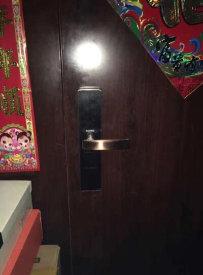 果加智能锁家用 APP智能密码锁电子遥控锁 防盗门门锁套装 F1 古铜色铁门 右开 晒单图
