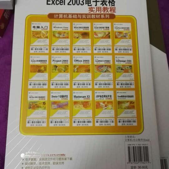 计算机基础与实训教材系列:中文版Excel 2003电子表格实用教程 晒单图