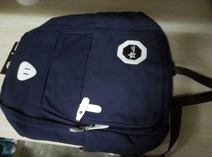 酷臣(KUCHEN)双肩包男韩版大学生个性街头青少年背包校园时尚潮流初中生书包男 深蓝色USB款 晒单图
