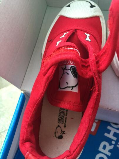史努比 SNOOPY 时尚休闲鞋 潮流儿童帆布鞋 S6330JD350红色29码 晒单图