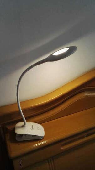 美的 (Midea)LED夹子护眼台灯阅读看书写字学习USB折叠迷你学生卧室书桌宿舍床头灯 【浅灰色】兰悦USB充电+三档情景光 晒单图