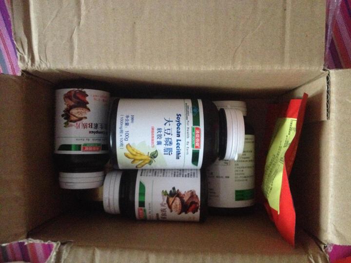 汤臣倍健(BY-HEALTH) 大豆卵磷脂软胶囊100粒2瓶+深海鱼油软胶囊100粒2瓶 晒单图