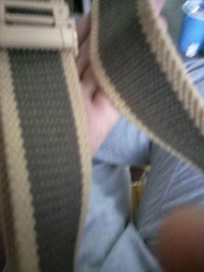 CK&LN腰带男士帆布皮带百搭板扣裤带 US卡其咖啡 晒单图