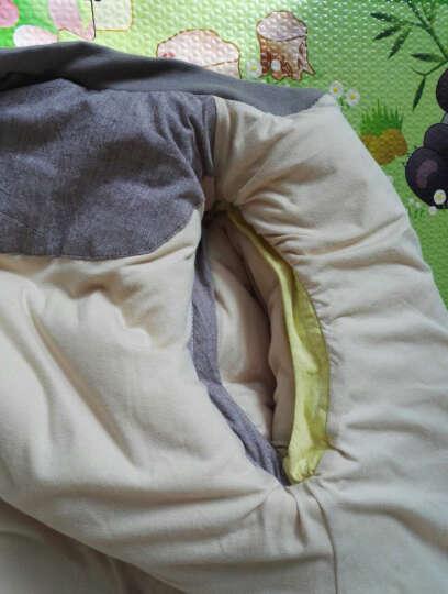 【赠肚兜睡袋】龙之涵 婴儿睡袋 秋冬分腿式宝宝睡袋 四季可拆袖可脱胆儿童防踢被睡袋 梦想桔-蚕丝款 L码(适合身高90cm-105cm) 晒单图