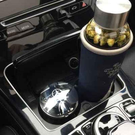尼克莱  奔驰c级E级glk级GLC车载烟灰缸 车用带LED灯带盖通用烟灰缸 奔驰标  烟灰缸   尊贵银 奔驰C级 C200 C180 C260L 晒单图