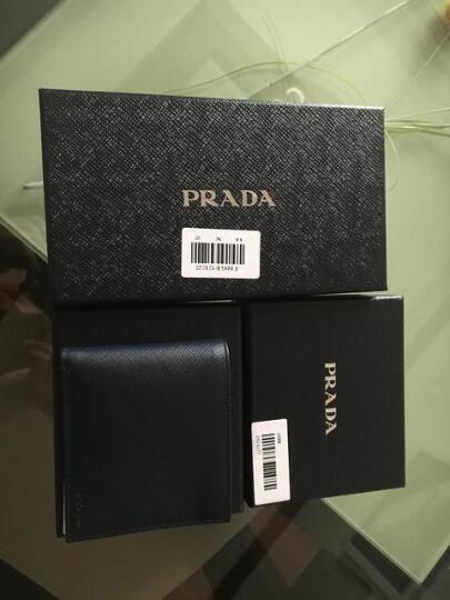 PRADA 普拉达 男士水银灰色牛皮短款对折钱夹 2MO738 PN9 F0048 晒单图