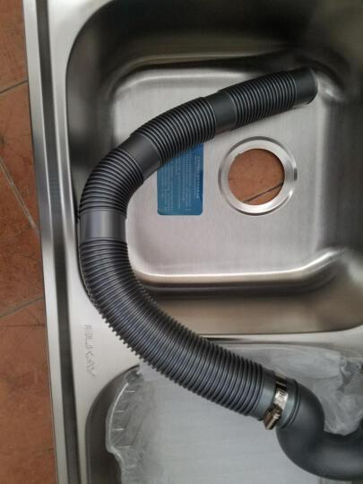 美国艾肯 厨房304不锈钢水槽双槽套餐含龙头一体拉丝加厚洗菜盆水池水斗 EC-52103U 不含龙头水槽单品 780*450*205mm 晒单图