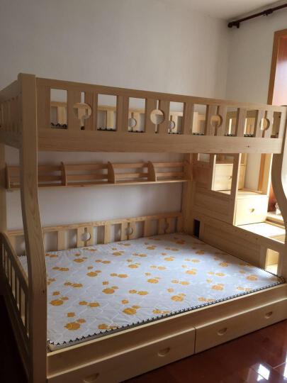 童鑫 松木实木高低床上下床子双层床 男孩女孩松木家具 1.5挂梯子母床 晒单图