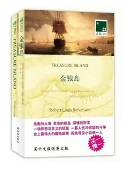 双语译林:金银岛(买中文版送英文版) 晒单图