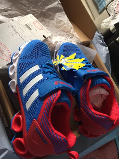 大黄蜂 BIG WASP 透气网布鞋 男童运动鞋 女童旅游鞋6-12岁 116318088 蓝红-36码 晒单图