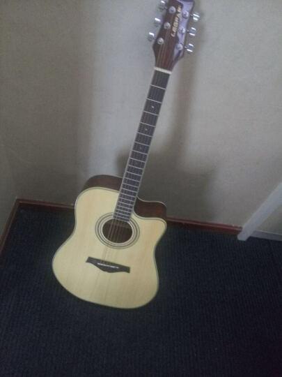 legpap吉他36寸41寸初学木吉他 DC01缺角民谣电箱琴吉他弧面设计原木色民谣 缺角 41寸原木色民谣-缺角 晒单图