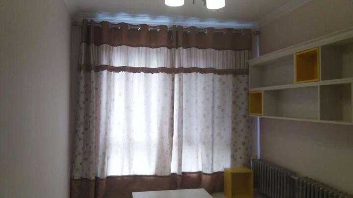 英格尚窗帘成品 6902韩式田园提花遮光窗帘布 客厅卧室遮光成品窗帘布 加厚双面花纹窗帘布 紫色-打孔 宽2.0*高2.7m 1片装 晒单图