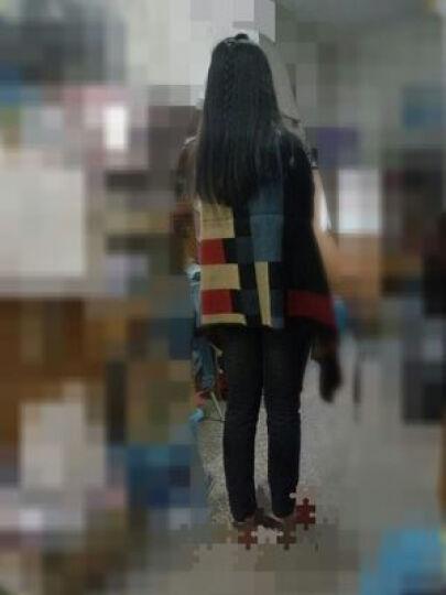 故事女人秋冬女士仿羊绒保暖围巾 冬季情侣大衣百搭加厚披肩冬天围脖女 芭格棕色 晒单图