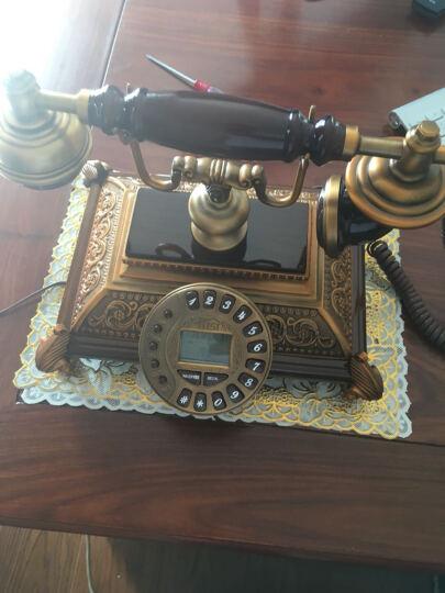 别墅恺撒仿古电话机古典金属复古电话机欧式家居座机 经典白色 晒单图
