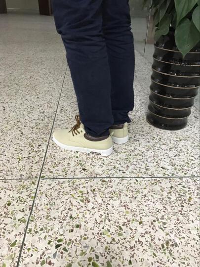 罗臣男鞋 2018新款夏季时尚休闲鞋 男 英伦男士鞋运动帆布鞋子户外单鞋驾车板鞋学生 蓝色 41 晒单图