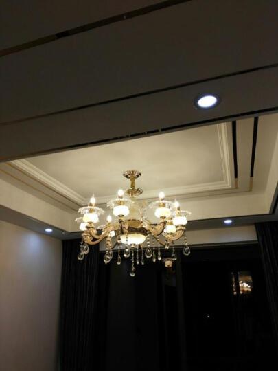 欧式锌合金玉石水晶吊灯