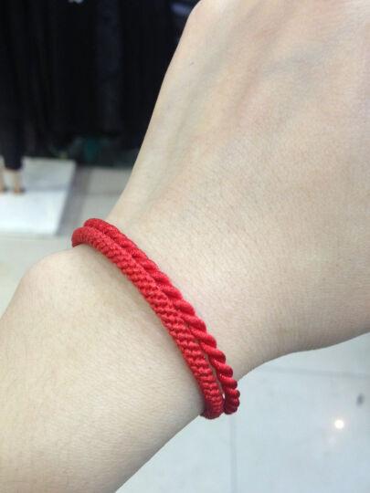 蓝狐世家 一年好运单珠玉米结红绳子手链男女款本命年情侣手链转运珠红绳手链 情侣1对(红黑1对) 晒单图
