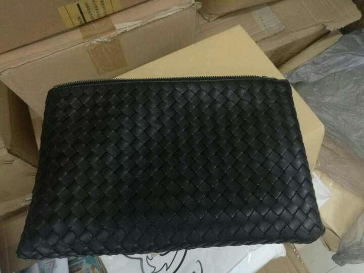 BV宝缇嘉BOTTEGA VENETA手拿包 编织手包 奢侈品 256400 V001O 1000 黑色(中号) 晒单图