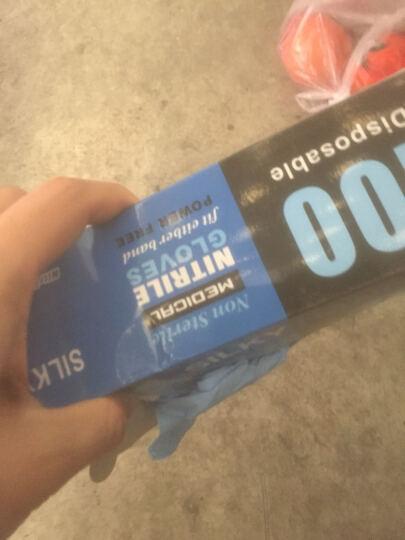欧客欣(AUKEWIN) 一次性丁晴手套/一次性手套/蓝色一次性丁晴手套 蓝色 L 晒单图