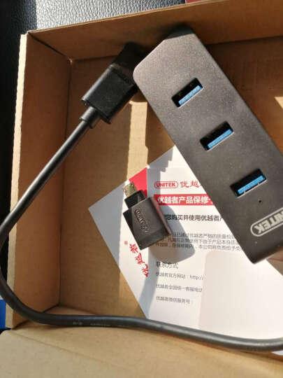 优越者(UNITEK)Y-3098FBK usb3.0分线器一拖四HUB转换器0.3米 带Micro OTG功能电脑4口扩展高速集线器黑色 晒单图