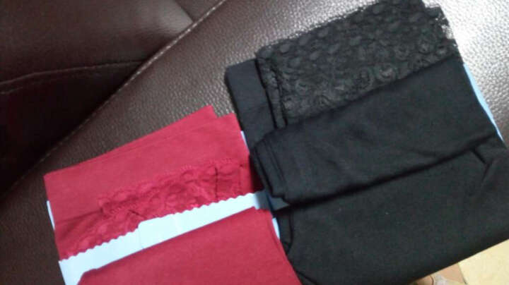 浪莎七分打底裤夏季外穿韩版显瘦潮裤子 糖果色打底裤袜女士蕾丝花边七分裤夏季 白色 晒单图