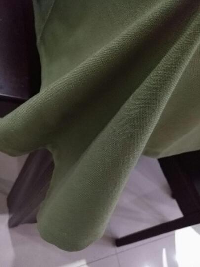 待立北欧桌布现代简约西餐厅布艺棉麻小清新正方形长方形地中海餐桌布方桌茶几台布美式乡村欧式 绿凤尾纯色桌布 130*190cm桌布 晒单图