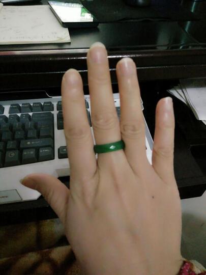 【爱在母亲节】玉人香  玛瑙戒指男女款指环玉器戒指玉石指环 多色玉髓戒指 宽黑色 直径约18mm 晒单图