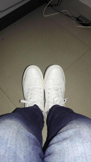 宸超(CHENCHAO) 男鞋商务休闲鞋子男2020春季新款低帮厚底板鞋休闲鞋男 1665D 黑色打孔 40 晒单图