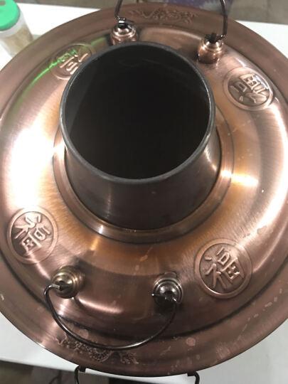 野虎(YE-HU) 铜火锅锅 火锅盆炉 镀紫铜锅 老北京木炭 34cm经典不锈钢木炭火锅 晒单图