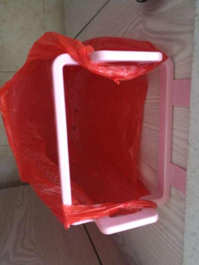 宜莱芙 塑料垃圾袋挂架厨房橱柜门手提袋支架挂钩垃圾袋收纳架子单只装 粉色 晒单图