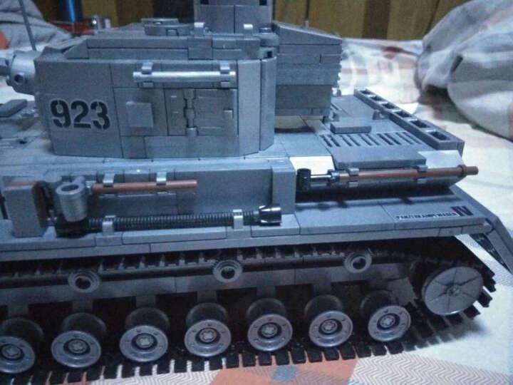 开智二战军事坦克战车积木儿童益智拼插拼装玩具模型立体智力拼图兼容乐高人仔系列 火线争锋B套餐 晒单图