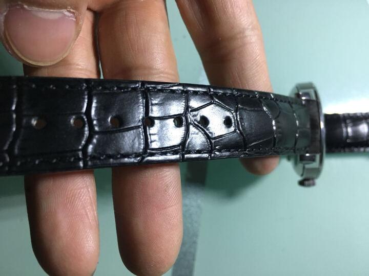 天梭力洛克表带T41真皮机械天梭1853代用原装库图19MM豪致男女真皮带 黑色黑线无扣 19mm 晒单图